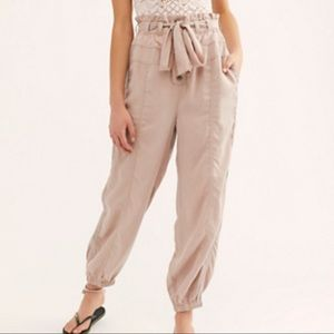 Free People Keep It Cinched Utility Pants Sz Large